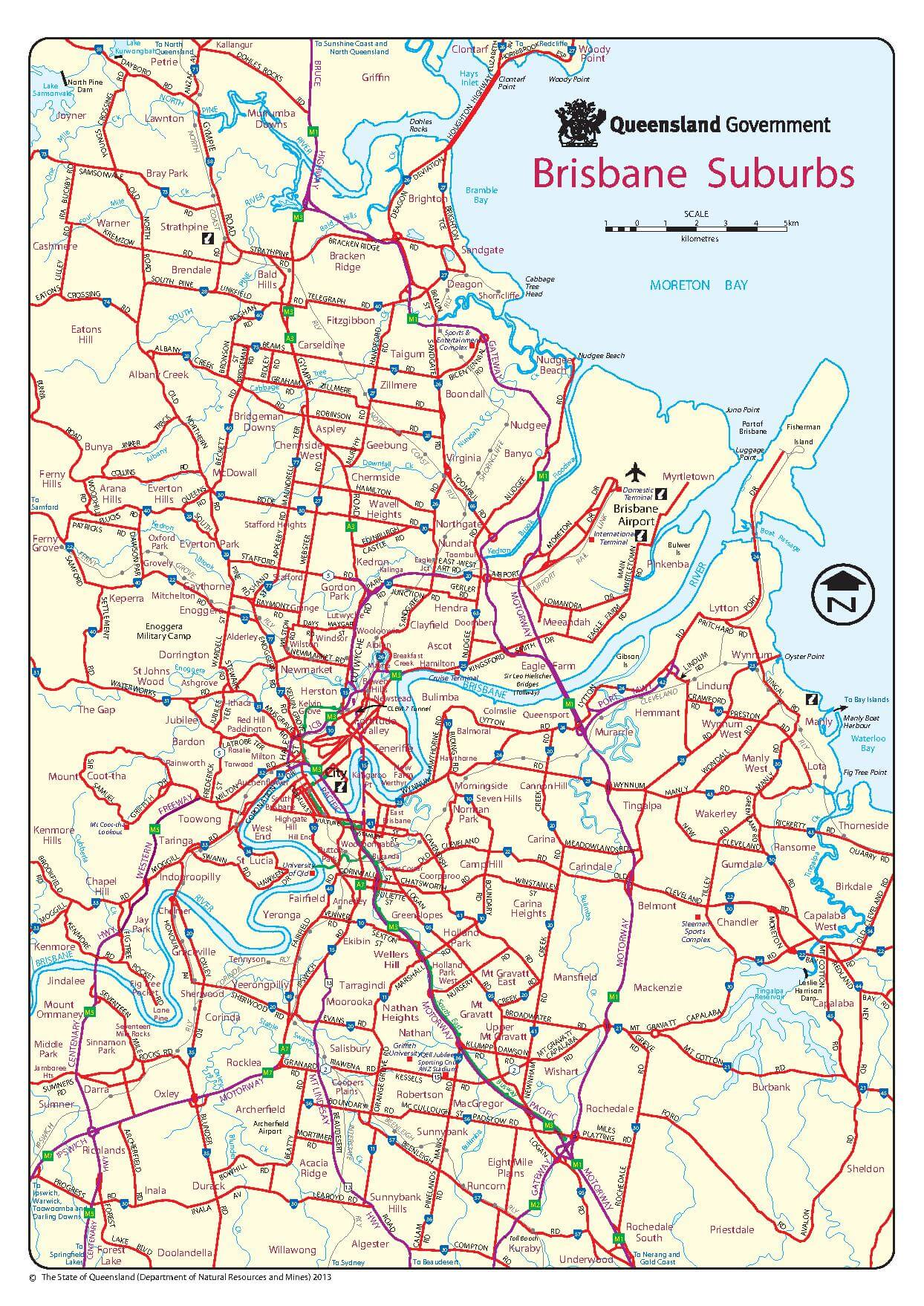 Brisbane Map Learn In Australia