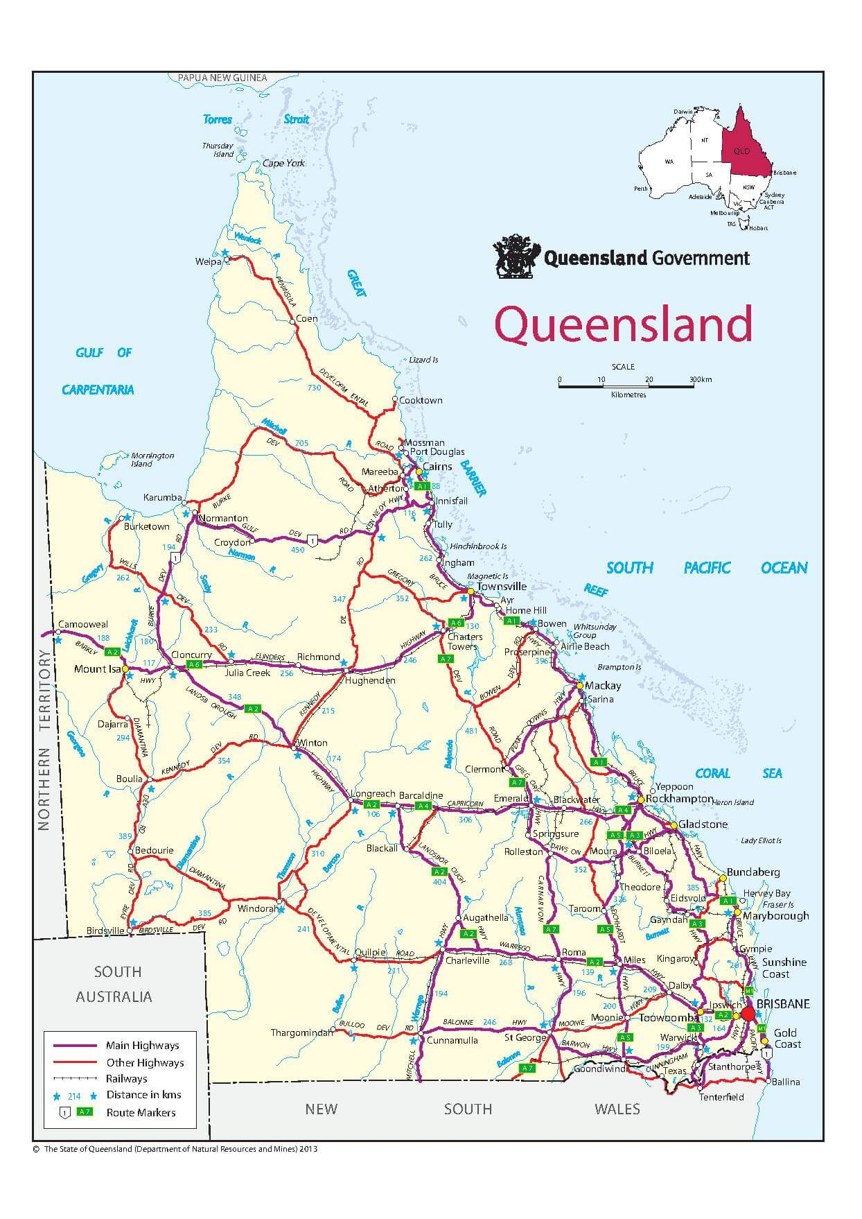 Map of Queensland Learn In Australia